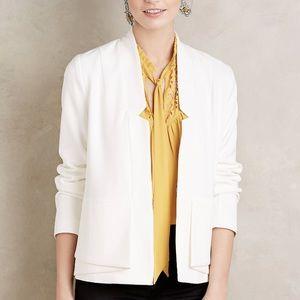 Anthropologie cartonnier White blazer